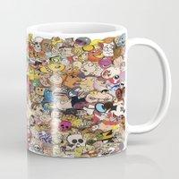 cartoon Mugs featuring Cartoon Collage by Myles Hunt