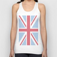 union jack Tank Tops featuring Union Jack by Alesia D