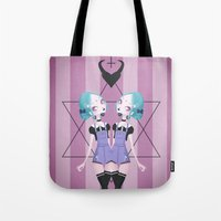 pastel goth Tote Bags featuring Pastel Goth by Paz Huichaman