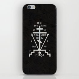 Calvary Cross of Russian Orthodox Church iPhone Skin