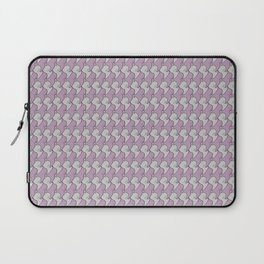 Pink and gray kittens snuggle pattern Laptop Sleeve