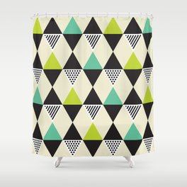 Geometric Pattern #48 (Mid-century) Shower Curtain