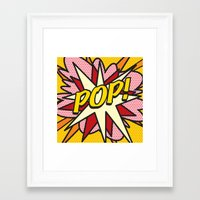 comic book Framed Art Prints featuring Comic Book POP! by The Image Zone