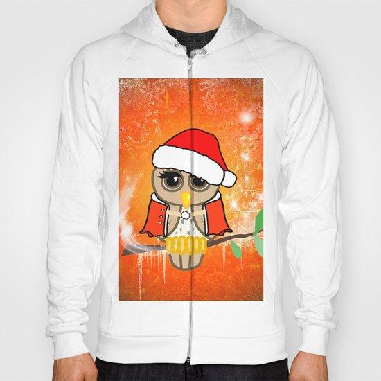 Funny christmas owl Hoody