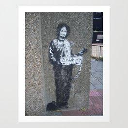 Banksy Hitchhiker to Anywhere Art Print