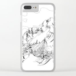 Mount Dunkirk - Single Line Clear iPhone Case
