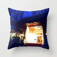 outdoor Throw Pillows featuring In Through the Outdoor~ New York City by 13th Moon Social Club