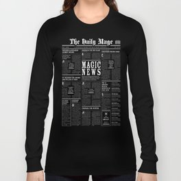 The Daily Mage Fantasy Newspaper II Long Sleeve T-shirt