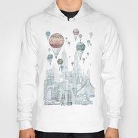 inspirational Hoodies featuring Voyages Over New York by David Fleck