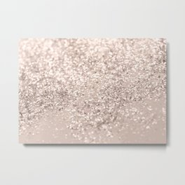 Blush Glitter Dream #4 #shiny #decor #art #society6 Metal Print
