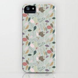 Autumn leaves, morning mist iPhone Case