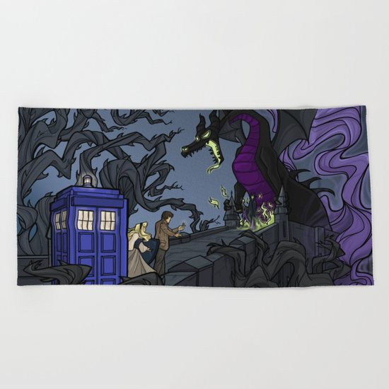 And Now You Will Deal with ME, O' Doctor Beach Towel