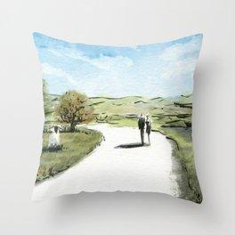 Path II Throw Pillow