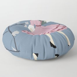 Christmas Packages in the Blue Winter Garden Floor Pillow