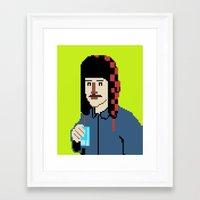 8bit Framed Art Prints featuring Self-8bit by Judge Bockman