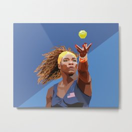 American Tennis Champion Metal Print