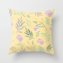 Simple and stylized flowers 3 Throw Pillow