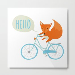Bike fox Metal Print