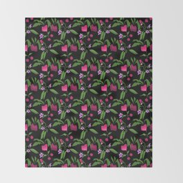Vegetable garden Throw Blanket