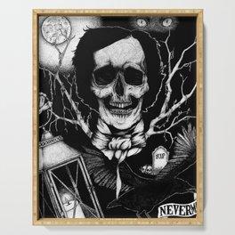 Edgar Allan Poe Nevermore Serving Tray