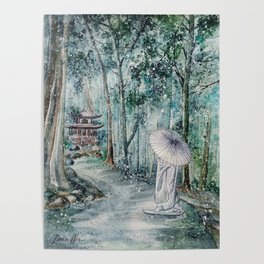 Silence (Watercolor painting) Poster