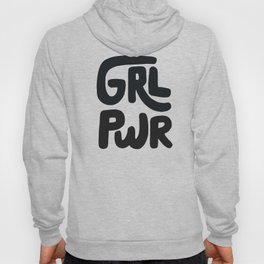 Grl Pwr black and white Hoody