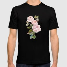 roses Black LARGE Mens Fitted Tee