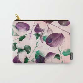 Spiral Eucalyptus Leaves Carry-All Pouch