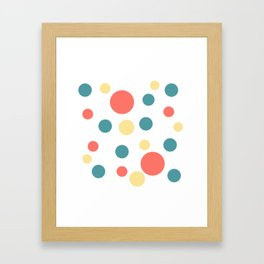 Coral Pop Framed Art Print
