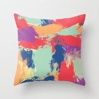funky Throw Pillows featuring Funky by Georgia Dritsakou