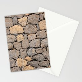 volcanic rock, background, pattern, stone, basalt, patch, maps, brown, road, paved, symmetrical Stationery Cards