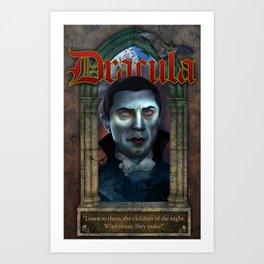 Dracula Poster Art Print