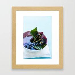 Bowl of Blackberries Framed Art Print