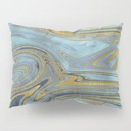 Liquid Teal and Gold Pillow Sham