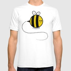 Cutesy Crawlies — Bumblebee Mens Fitted Tee SMALL White