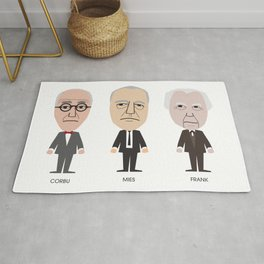 The Godfathers of Modern Architecture Rug