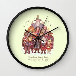 The loudest carollers in Middle Earth Wall Clock