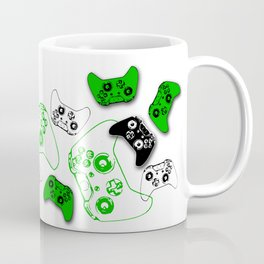 Video Game Black & Green Coffee Mug