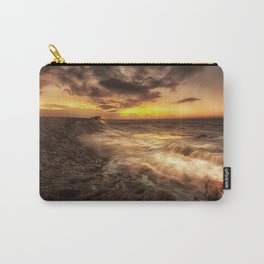 Porthcawl Sunrise with an oil painting effect on the sea Carry-All Pouch