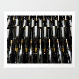 Wine white bottles Art Print