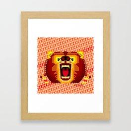 Geometric Bear 2012 Framed Art Print