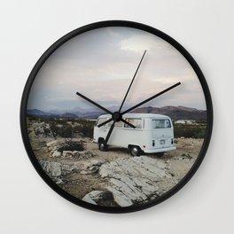 Desert Camper Bus Wall Clock