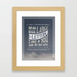 Galatians 6:11 Framed Art Print