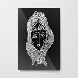 Black & White Is Alright Metal Print