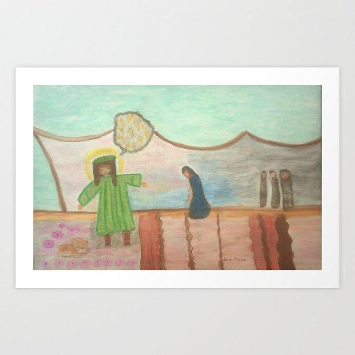 Bible Story Joseph and His Coat Art Print