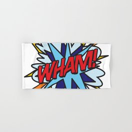 Comic Book Pop Art WHAM! Hand & Bath Towel