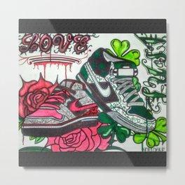 Love/Lust Sneaker Doodle Metal Print
