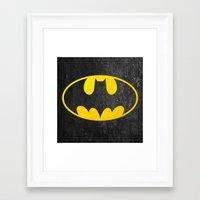 bat man Framed Art Prints featuring Bat man by S.Levis