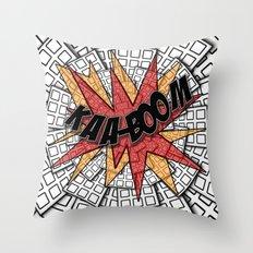 KAA-BOOM Throw Pillow