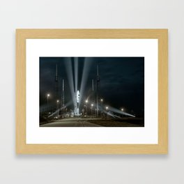 Why Do Rockets Launch At Night Framed Art Print